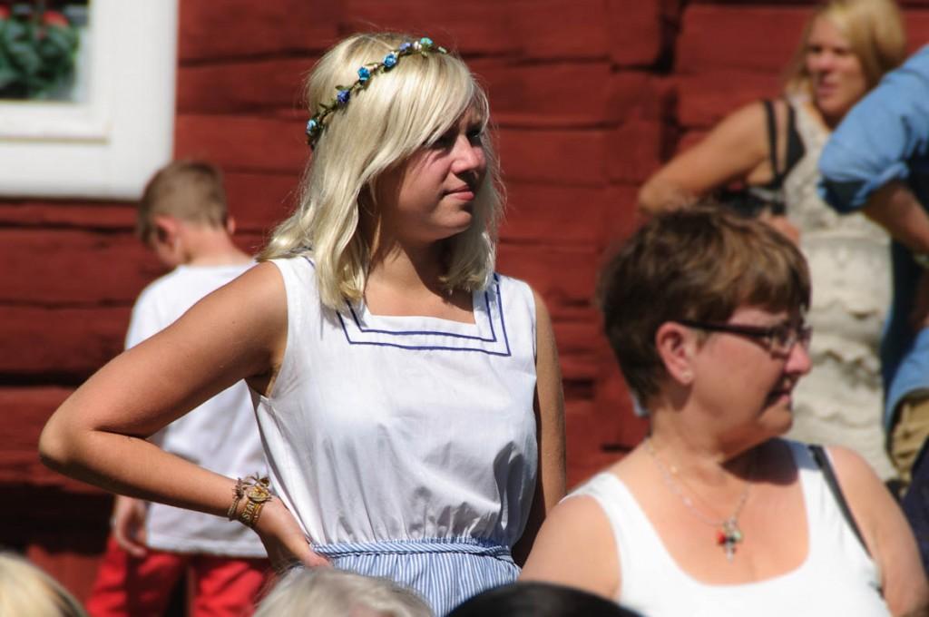 Mädchen beim Mittsommer-Fest | Schweden | 2012 | Fotograf: Ralf Wiechers