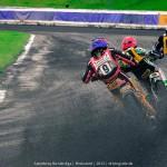 Drei Fahrer driften auf die Gerade | Fotograf: Ralf Wiechers