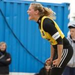 Cinja Tilmann freut sich über erfolgreichen Punktgewinn