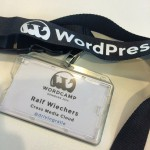 Mein Badge fürs WordCamp Kopenhagen