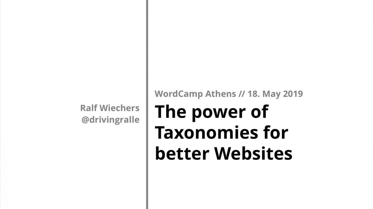 Folie: The power of taxonomies for better websites - Ralf Wiechers